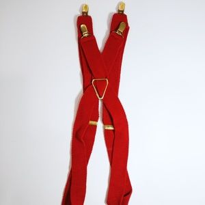 Other - Adult Unisex Red Suspenders